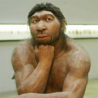 Neanderthal fraud man.